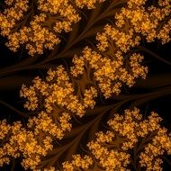 fractal yellow brown pattern