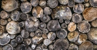 background with stacked firewood
