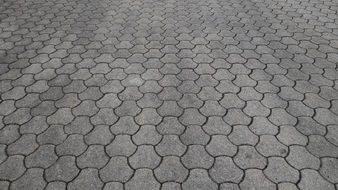 wallpaper with hexagonal paving