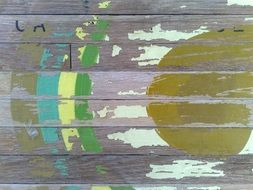 weathered painted wooden surface