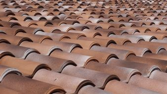 wallpaper with red tile roof structure