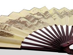 handmade paper chinese fan