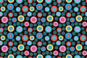cheerful floral pattern