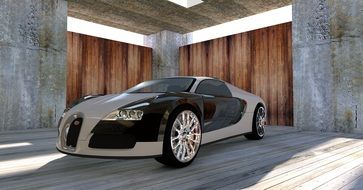 Bugatti Veyron 3d visualization