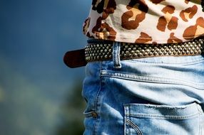 Clothing Belts Jeans Blue Jeans