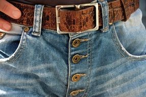 Belts Buckle Demin Jeans