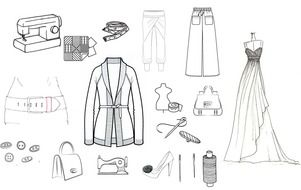 Fashion, Clothing and Accessories, drawing