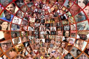 photo montage of faces