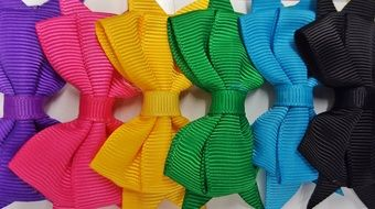 Picture of colorful hair bows