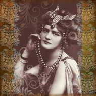 vintage photo of a woman with jewelry