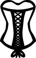 drawing of a lace corset on a white background