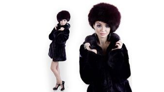 girl in furs