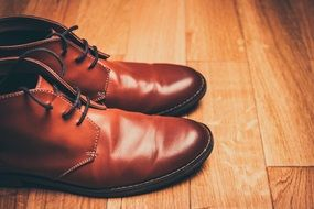 Brown Shoes Lace-Up