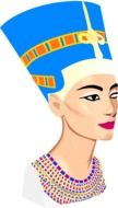 graphic image of the head of an egyptian woman