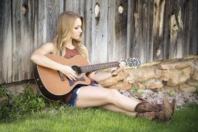 Guitar Country Girl Music