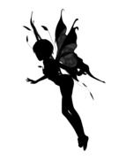 silhouette of a mythical creature with wings