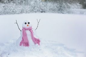 snow woman this winter