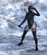 woman in ninja costume