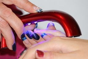 manicure lamp for drying varnish