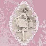 vintage image of a ballerina in lace
