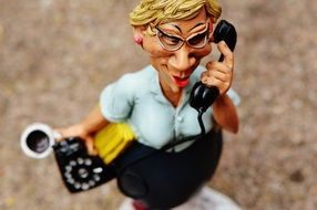 business secretary on the phone