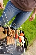 barbecue for a party in a garden