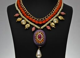Colorful indian jewelry as decoration