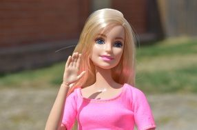 Barbie doll in a pink T-shirt