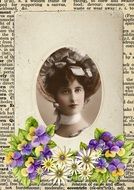 vintage portrait of a woman of Victorian era