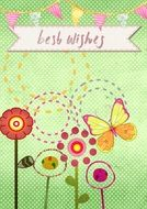 Best Wishes Card drawing