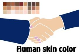 """Human skin color"" clipart"