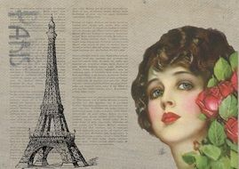 Vintage Flapper Paris France