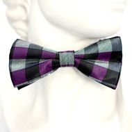 striped bow tie on a light background