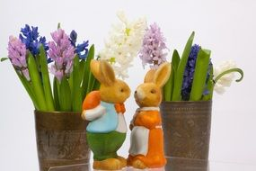 cute easter hare figures