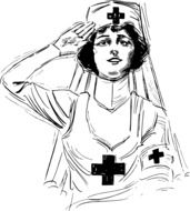 Black and white photo of the first aid clipart