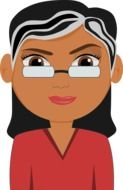 Teacher with the glasse from cartoon clipart