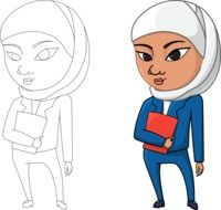 clipart of the Arabian girls