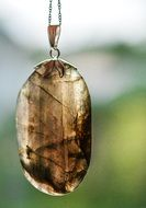 stylish pendent with labradorite stone