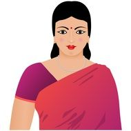 digital drawing of an indian woman