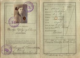german woman's Passport from 1930