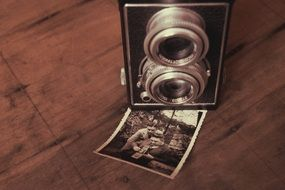 vintage camera and retro picture