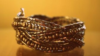 gold bracelet as jewelry