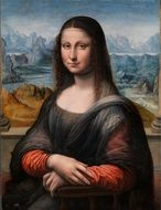 nice mona lisa portrait painted by leonardo de vinci