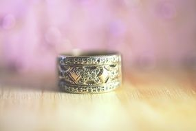 ornate Wedding Ring close up