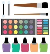 Cosmetics for make-up clipart