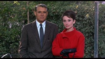 Photo of Cary Grant and Audrey Hepburn in 1963