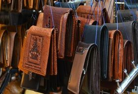 Wallets made of leather