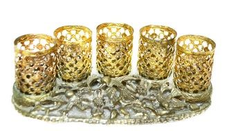 vintage gold lipstick holders