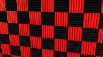 Red and Black Tiles, background