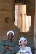 couple in an egyptian temple
